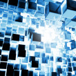 Blue Cubes Background — Stockfoto