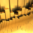 Foto de Stock  : Gold Diagrams