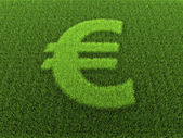 Signe euro herbe — Photo