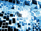 Blue Cubes Background — Stock Photo