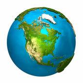 行星地球-北美 — 图库照片