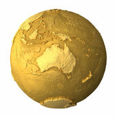 Gold Globe - Australia — Stock Photo