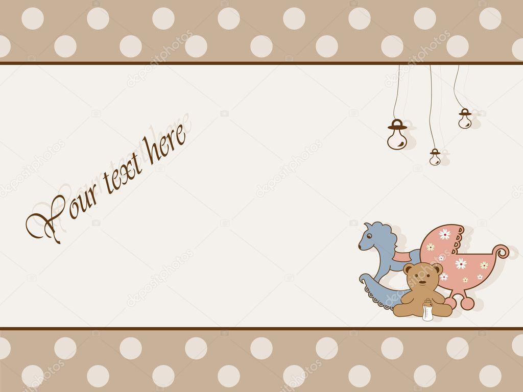 Baby Shower Teddy Bear Clip Art