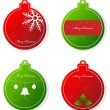 Christmas tags — Stock Vector #4304612