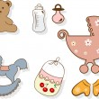 Royalty-Free Stock Vector Image: Baby set