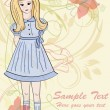 Royalty-Free Stock Vektorfiler: Hand drawn girl