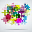 Multi-colored puzzle — Stock Vector