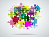 Quebra-cabeça multi-coloridas — Vetor de Stock