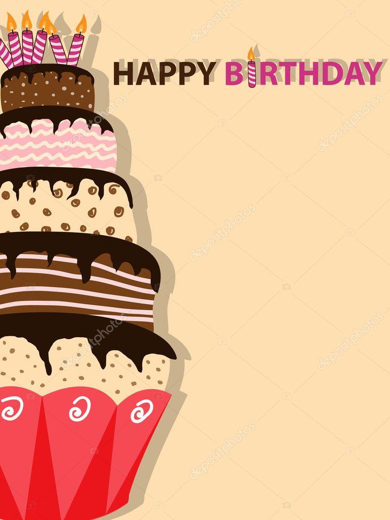 Descargar - Pastel de cumpleaños — Ilustración de stock #4669651