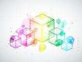 Rainbow cubes — Stock Vector