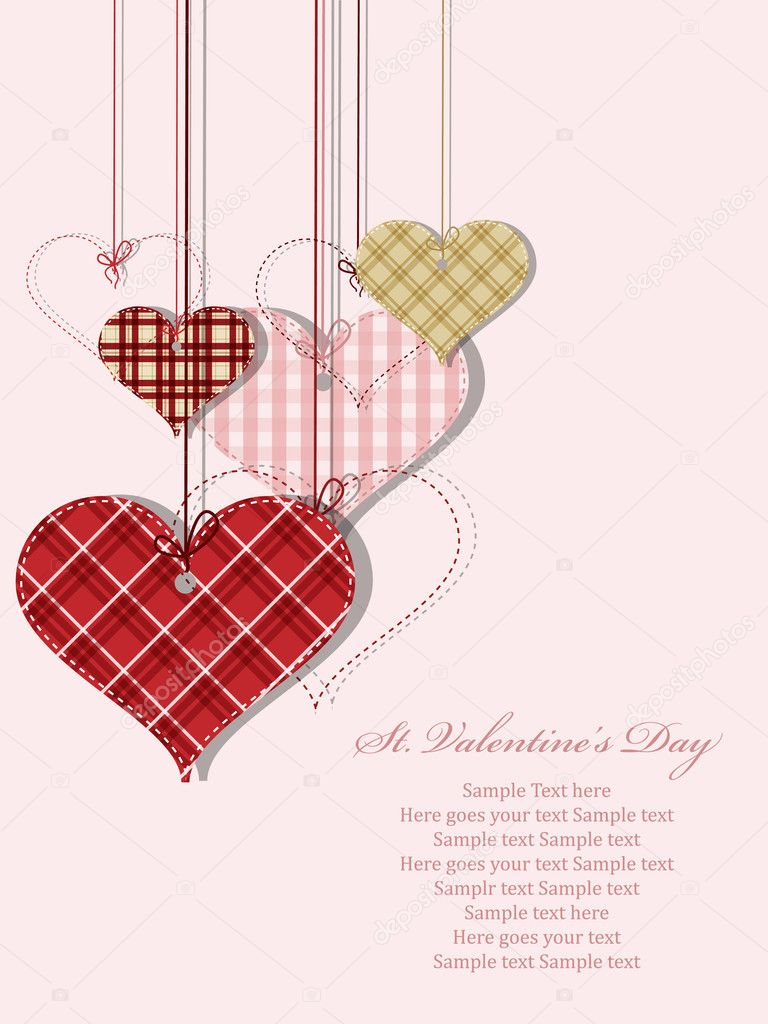 Vector St Valentine day's greeting card — Stock Vector #4738518