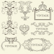Royalty-Free Stock Vector Image: Vintage frame set