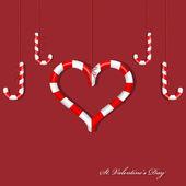 Candy heart — Stock Vector
