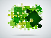 Green puzzle — Stock Vector