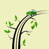 Ağaç yol — Stok Vektör