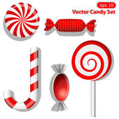Red candies — Stock Vector