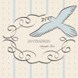 Stock Vector: Vintage label with bird
