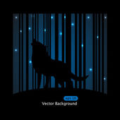 Wolf background — Stock Vector