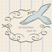 Vintage label with bird — Stock Vector