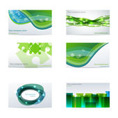Green business cards — Stock Vector