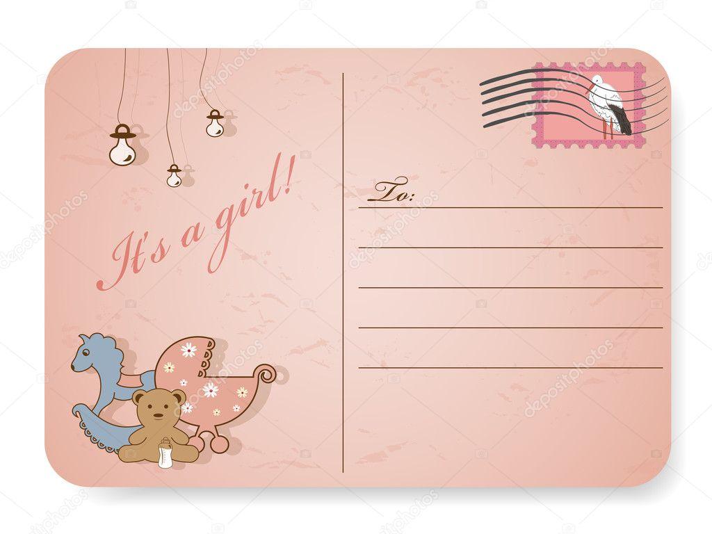 Baby shower postcard — Stock Vector © 578foot #5178498
