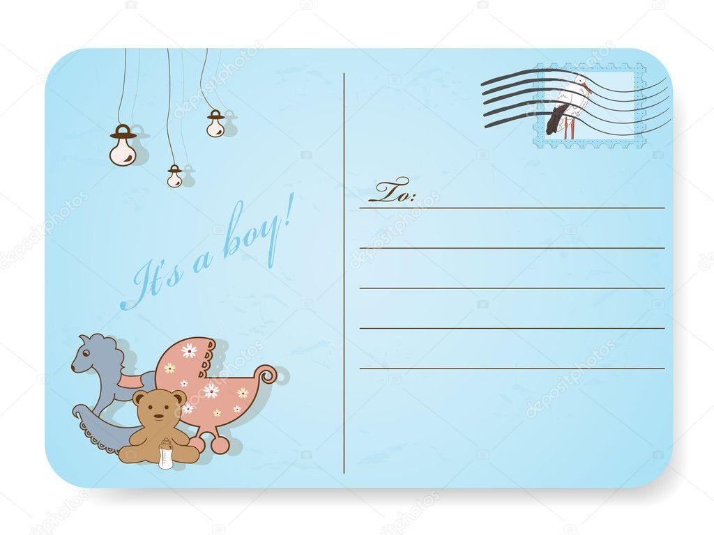 Baby shower postcard — Stock Vector © 578foot #5178499