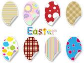 Easter egg sticker set — ストックベクタ