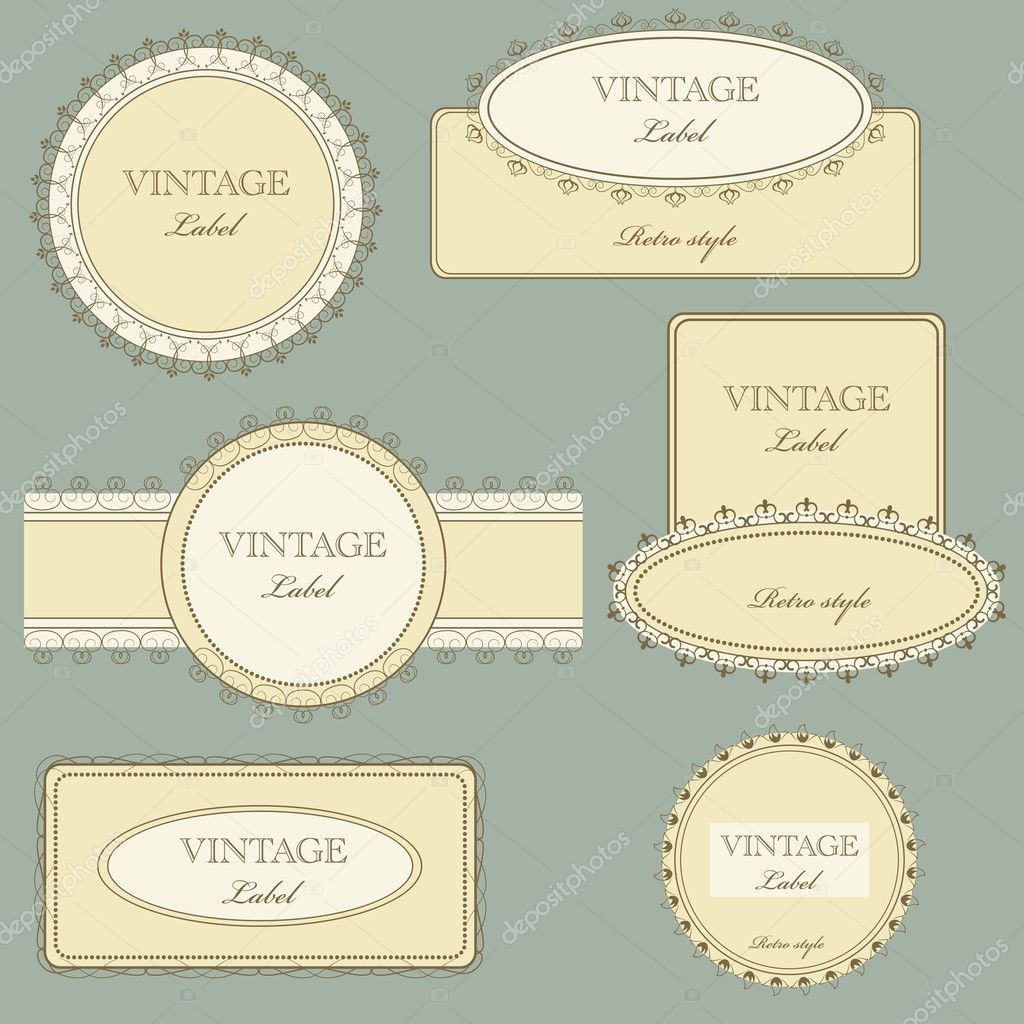 Vector set of vintage framed ornate labels  Stock Vector #5278126