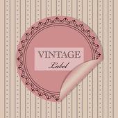 Invitation Vintage — Vecteur