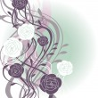 Abstract cute floral background - Imagen vectorial