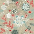 Romantic floral background - Stock vektor