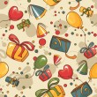 Birthday seamless wallpaper — Imagen vectorial