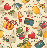 Birthday seamless wallpaper — Vettoriale Stock