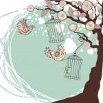 夏の花の組成 — ストックベクタ