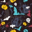 Stok Vektör: Halloween background