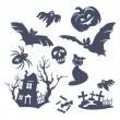 图库矢量图片: Different Halloween icons