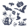 Different Halloween icons — Imagen vectorial