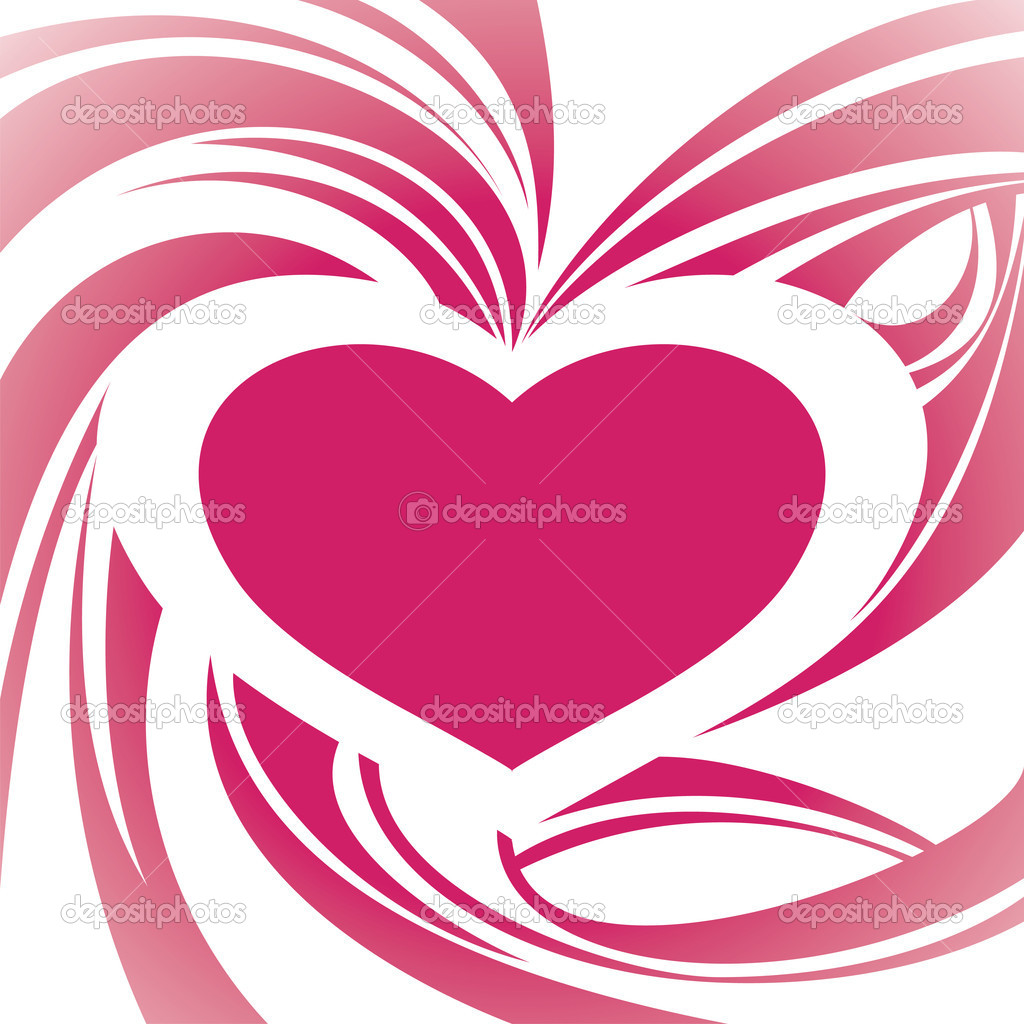 Abstract heart frame background vector illustration — Grafika wektorowa #3979812