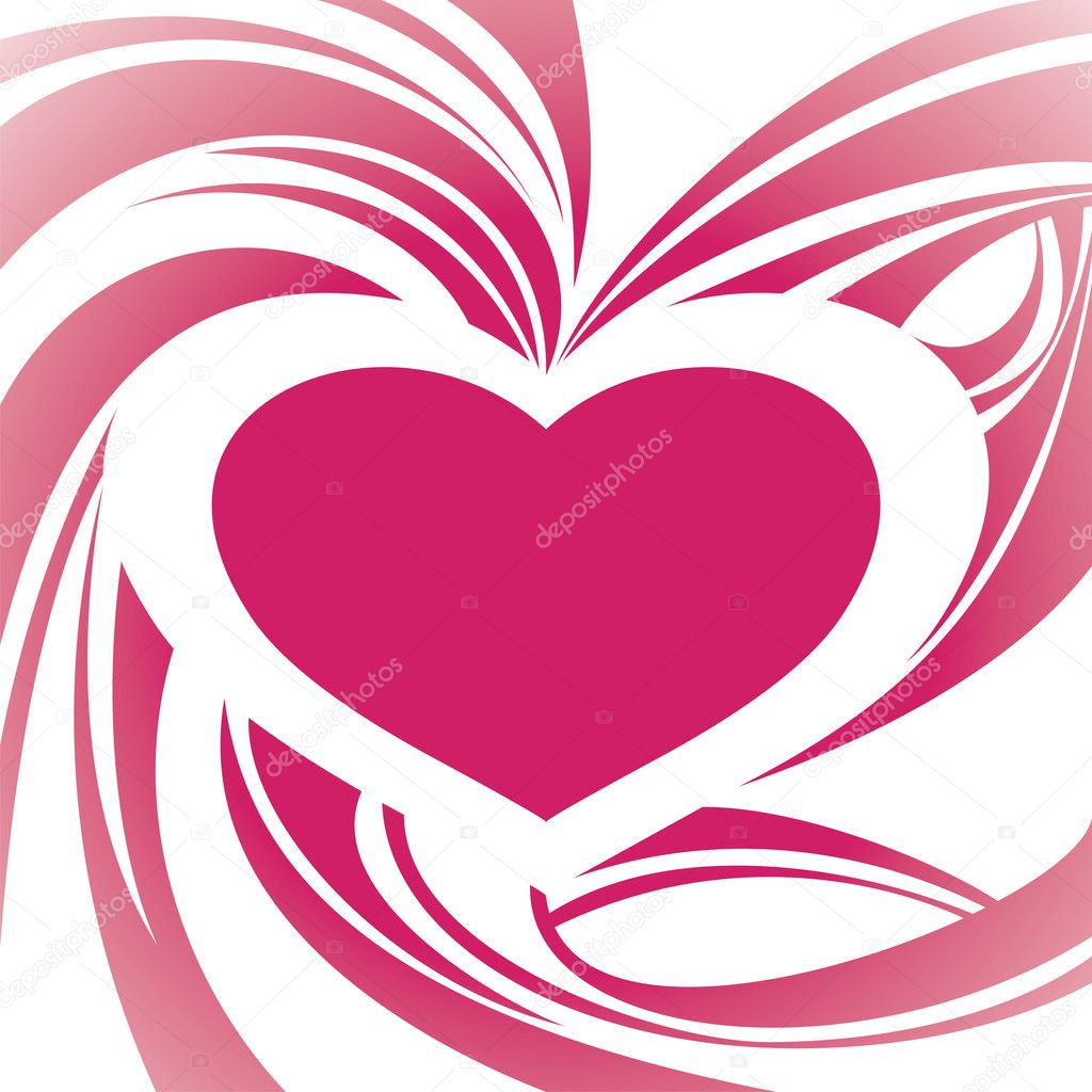 Abstract heart frame background vector illustration — Stock Vector #3979812