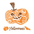 Halloween pumpkin — Vector de stock #3993179