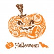 Calabaza de Halloween — Vector de stock