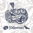 Abstract Halloween background - Stock Vector