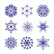 Set of snowflakes — Stock Vector #4408555