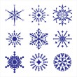 Set of snowflakes — Stock Vector #4408560
