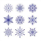 Set of snowflakes — Stockvektor