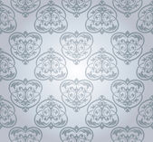 Seamless damask wallpaper — Vettoriale Stock