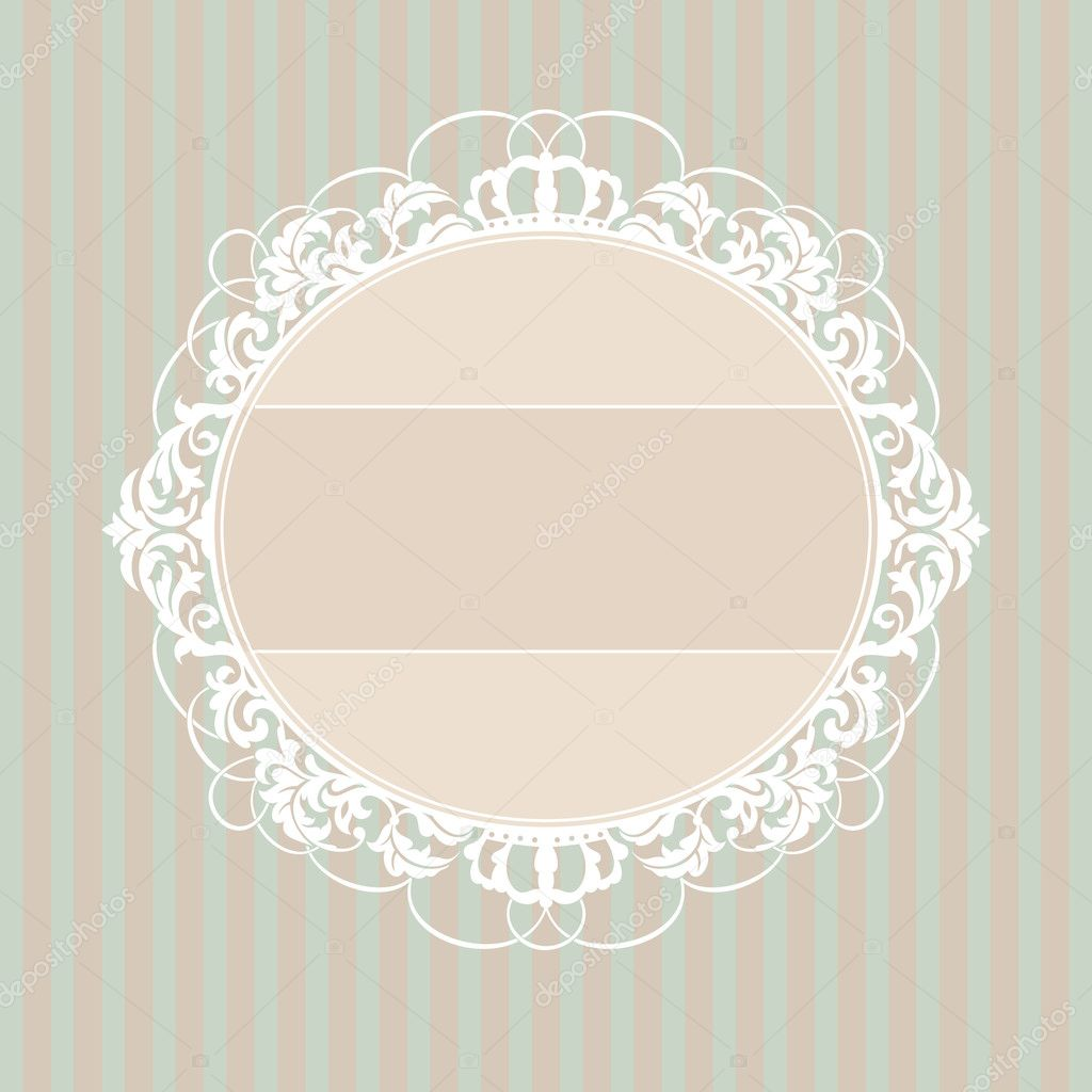 Abstract cute decorative vintage frame vector illustration — Stock Vector #4819571