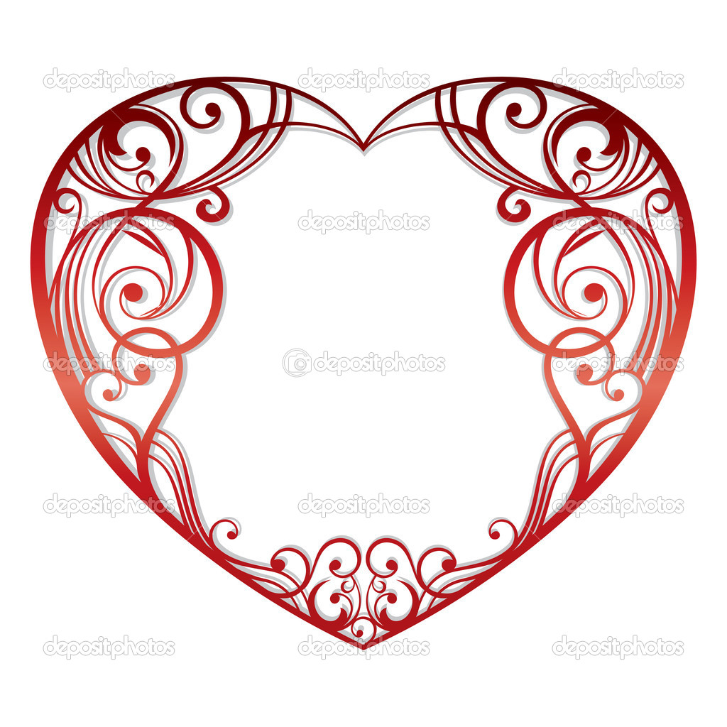 Abstract heart on white background vector illustration  Stock Vector #4819592