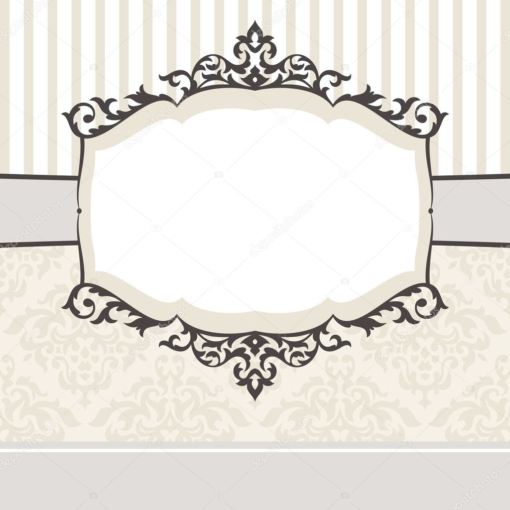 Abstract cute decorative vintage frame vector illustration — Stock Vector #4832431