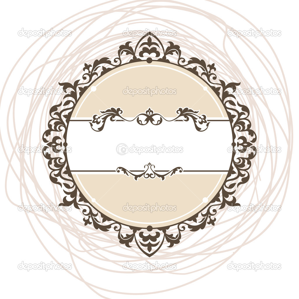 Abstract cute decorative vintage frame vector illustration  Stock Vector #4832437
